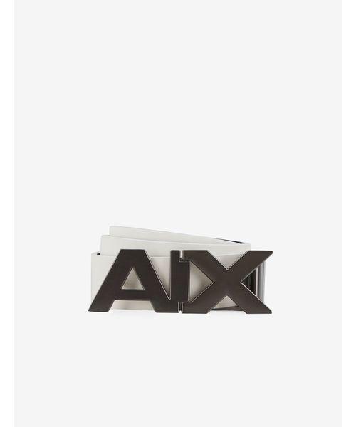 【A|Xアルマーニ エクスチェンジ】A|Xバックル レザーベルト