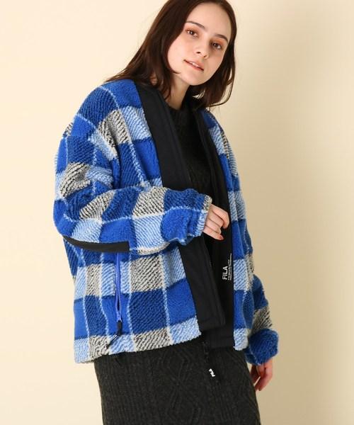 新発売の 【セール】【WEB限定販売】FILA(フィラ)ジップアップチェックボアブルゾン(ブルゾン)|couture brooch(クチュールブローチ)のファッション通販, Daito International:eab7140c --- fahrservice-fischer.de
