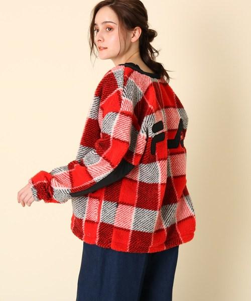 新規購入 【セール】【WEB限定販売】FILA(フィラ)ジップアップチェックボアブルゾン(ブルゾン) couture brooch(クチュールブローチ)のファッション通販, スポーツミヤスポ:858d2ba4 --- fahrservice-fischer.de