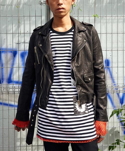[定休日以外毎日出荷中] 603603 ラムレザーライダースジャケット(ライダースジャケット)|603(ロクマルサン)のファッション通販, fabric bird:98e7993a --- gf-atelier.de