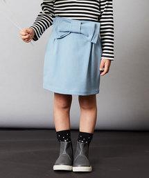 b・ROOM(ビールーム)のカルゼリボン付きコクーンスカート(スカート)