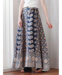 Ungrid(アングリッド)のペイズリープリントラップスカート(スカート)