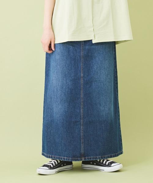 9.6オンスデニム ロング Aラインスカート