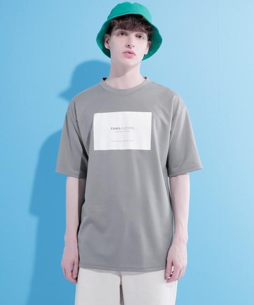 ポンチローマ オーバーサイズ ボックスロゴデザインカットソー 1/2 sleeve(EMMA CLOTHES)