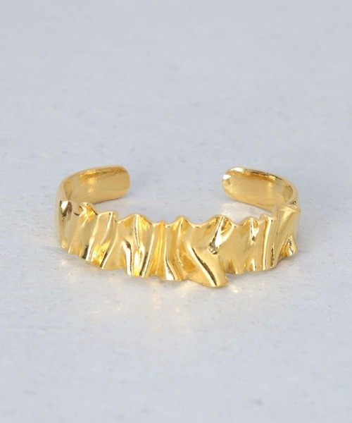 <Preek>METAL FRILL BRACELET SILVER×GOLD PLATED/ブレスレット
