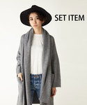 MOUSSY | AUTUMN OUTER×HAT SET①(カーディガン)