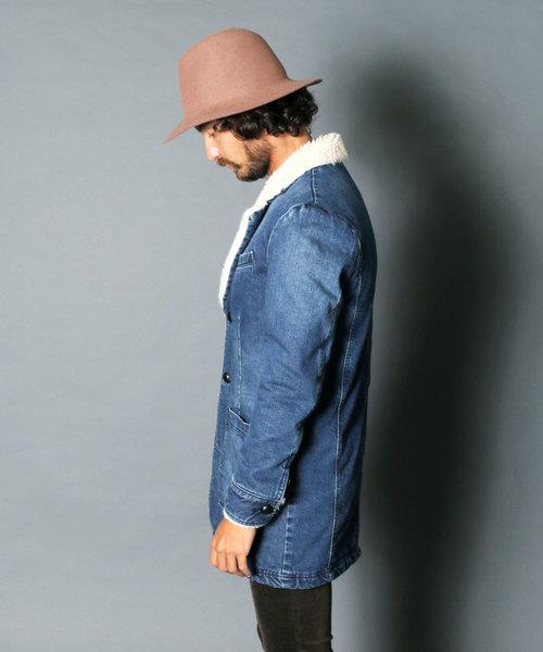 DENIM BOA QUILTING COAT:デニムボア キルティングコート
