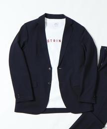 coen(コーエン)の(セットアップ企画)シアサッカーギンガムテーラードジャケット(テーラードジャケット)