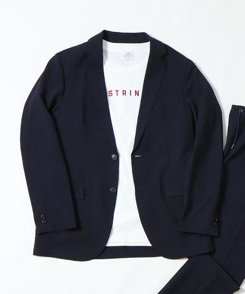 (セットアップ企画)シアサッカーギンガムテーラードジャケット