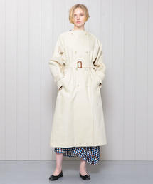 <H>TWILL NO COLLAR TRENCH COAT/コート