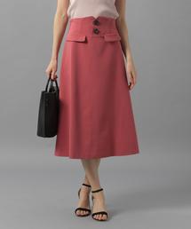 Andemiu(アンデミュウ)のハイウエストAラインスカート831539(スカート)