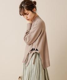 natural couture(ナチュラルクチュール)のサイドスリット&TPプチハイニット(ニット/セーター)