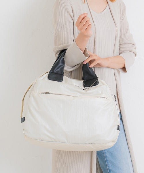 【Bermosa】2way 男女兼用 メタリックナイロン A4対応キャリーオンバッグ