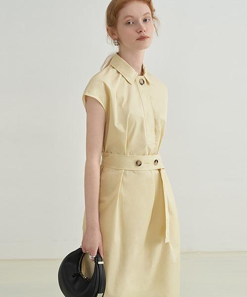 【Fano Studios】【2021SS】sleeveless belt dress FX21L236