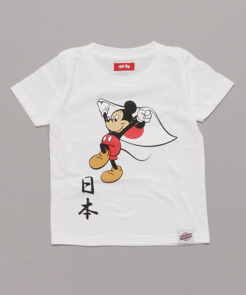 TEG TEG/テグテグ/MICKY MOUSE '日本' Tシャツ