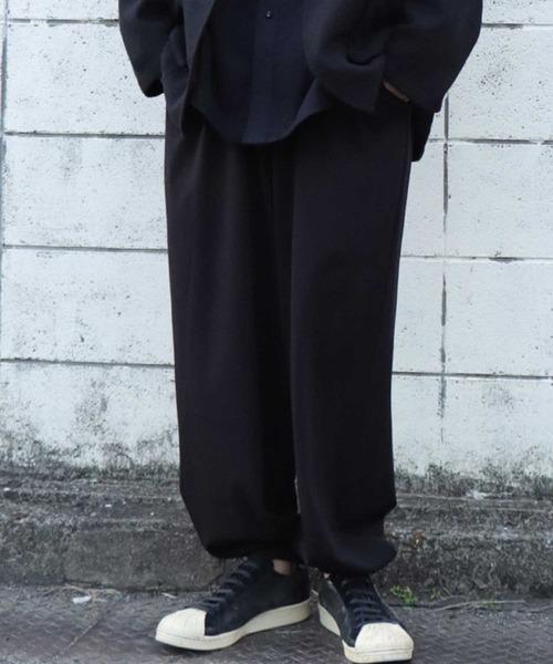 antiqua(アンティカ)の「サルエルパンツ(その他パンツ)」|ブラック