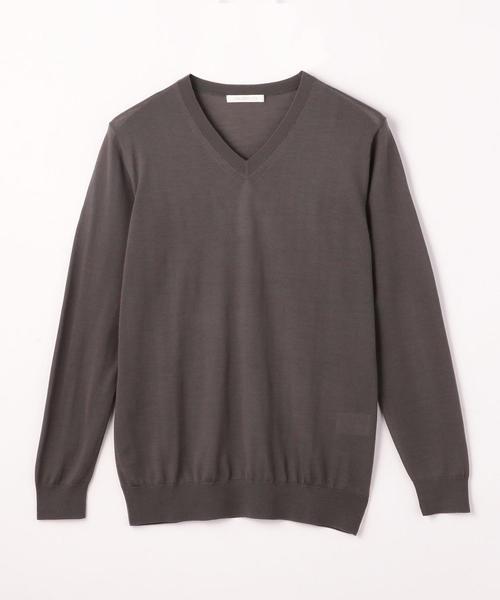 【送料込】 ウーステッドウール Vネックプルオーバー(ニット/セーター) GALERIE GALERIE VIE(ギャルリー ヴィー)のファッション通販, DEDO(デド):4c5155f3 --- 5613dcaibao.eu.org