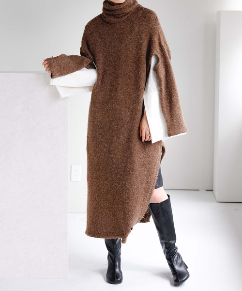 【chuclla】【2021/AW】Deformed free combination long knit chws21a02