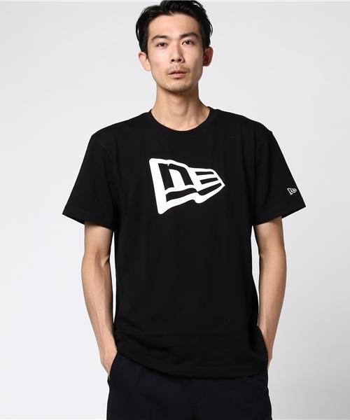 NEW ERA Tシャツ TEE FLAG LOGO BLACK