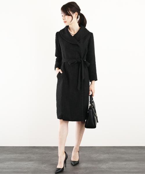 福袋 【セール フォーマル】ツイード風 ラップワンピース フォーマル スーツ スーツ ベルト付き セール,SALE,DRESS【2点セット】結婚式(セットアップ) DRESS LAB(ドレスラボ)のファッション通販, いいもん:b94020c0 --- wm2018-infos.de