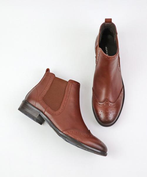 MODE KAORI(モードカオリ)の「撥水サイドゴアショートブーツ(ブーツ)」 ブラウン系その他