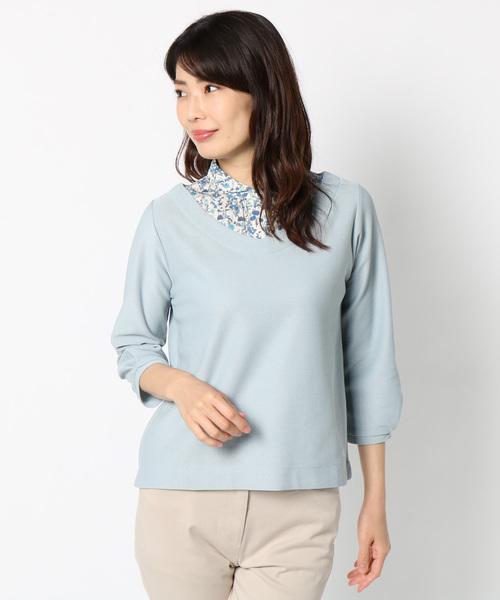 1583fa1451a4d McGREGOR(マックレガー)の「ドッキングシャツカットソー(ポロシャツ)」 ミント
