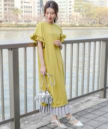 589d5ec64cd32 ワンピース(イエロー 黄色系・フリル)ファッション通販 - ZOZOTOWN