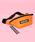 WC(ダブル シー)の「WC/チャーム付きウエストポーチ(ボディバッグ/ウエストポーチ)」 オレンジ