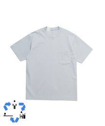 CREW NECK T-SHIRTライトブルー