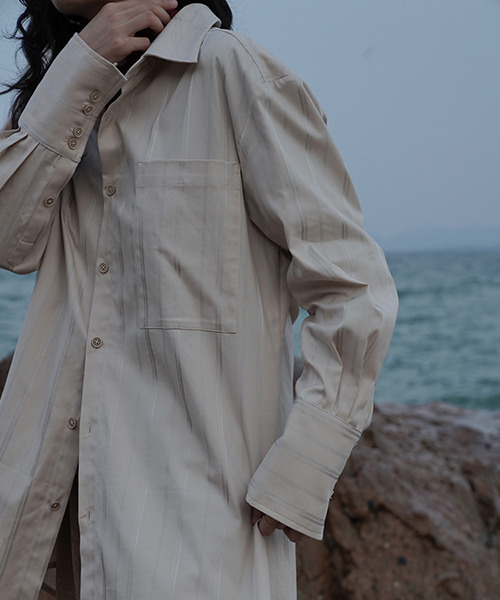 【LeonoraYang】Double stripe shirt chw1508
