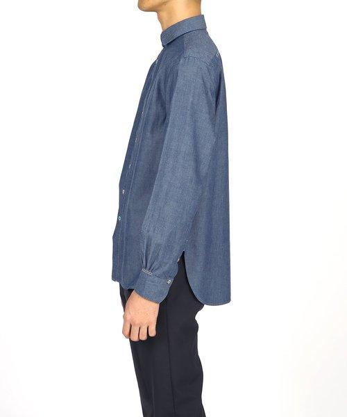 マルチカラーボタン インディゴシャツ【194373 231】
