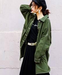 Fashion Letter(ファッションレター)のビッグシャツジャケット(ミリタリージャケット)