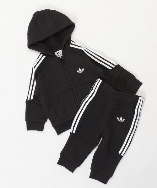 adidas(アディダス)の「[RADKIN HOODIE] アディダスオリジナルス(キッズ/子供用)(ジャージ)」 ブラック