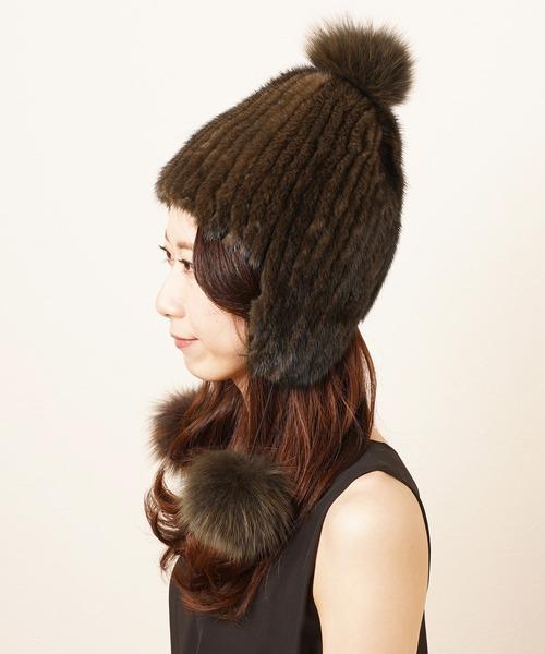 最初の  ミンクファーボンボン付き帽子(ニットキャップ sankyo/ビーニー)|sankyo shokai(サンキョウショウカイ)のファッション通販, EXCEL BUNCH エクセルバンチ:1e5c6268 --- pyme.pe