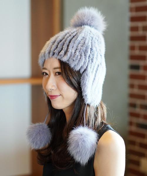 【お気に入り】 ミンクファーボンボン付き帽子(ニットキャップ/ビーニー) sankyo sankyo shokai(サンキョウショウカイ)のファッション通販, URBAN RESEARCH ROSSO/ロッソ:9d138f10 --- pyme.pe