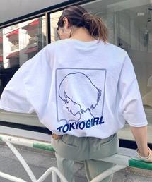 WHO'S WHO gallery(フーズフーギャラリー)の【WEB限定】東京ガール ビッグシルエットラインロゴ半袖TEE(Tシャツ/カットソー)