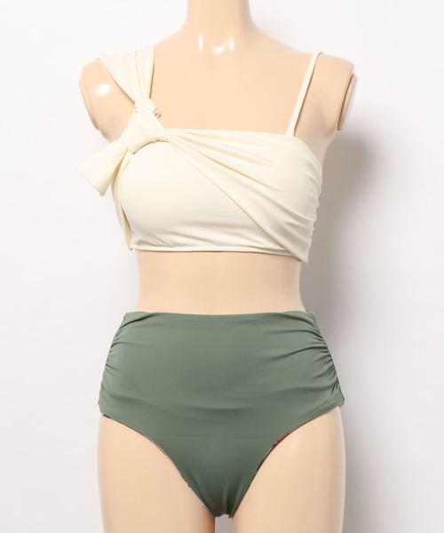 【Nuckle market(ナックルマーケット)】 SOLID One shoulder Bikini