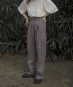 【LeonoraYang】 Stripe slacks chw1509