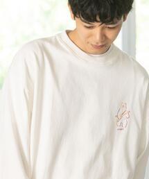 coen × 金安 亮 イラストロングスリーブTシャツ