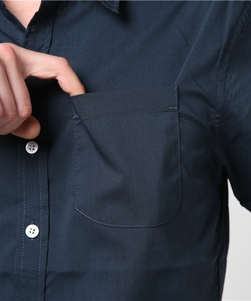 「INASTUDIOS SELECT」ストレッチブロード半袖シャツ