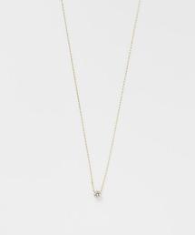agete(アガット)のK18ダイヤモンドネックレス(ネックレス)