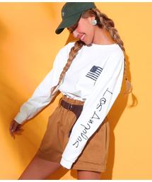 anap mimpi(アナップミンピ)の袖プリントロングTシャツ(Tシャツ/カットソー)