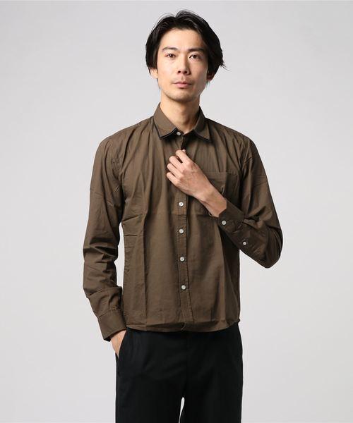2枚襟ブロードシャツ