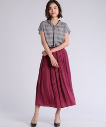 CLEAR IMPRESSION (クリアインプレッション)のプリーツロングスカート(スカート)
