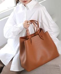 【chuclla】2way large tote-bag cha135ブラウン