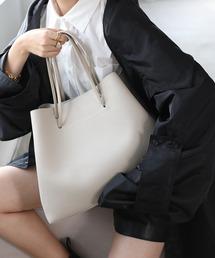 【chuclla】2way large tote-bag cha135グレイッシュベージュ