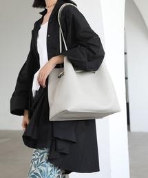 【chuclla】2way large tote-bag cha135ライトグレー