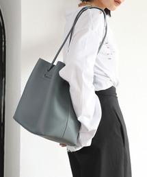 【chuclla】2way large tote-bag cha135ブルーグレー