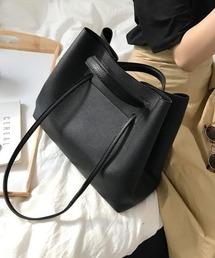 【chuclla】2way large tote-bag cha135ブラック
