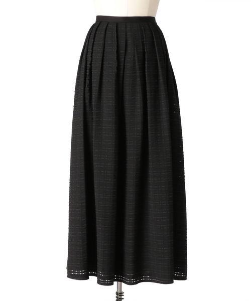 Drawer チェックシアータックフレアスカート